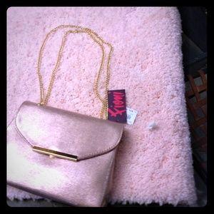 4x$5 items=$15! Rose gold evening bag
